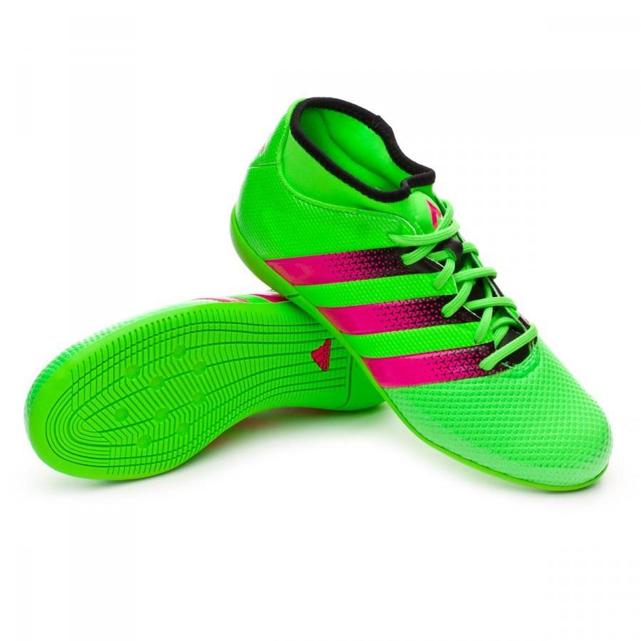 ca5ccf101e Sapatilha de Futsal adidas Jr Ace 16.3 Primemesh IN Solar green-Shock  pink-Core black - Loja de futebol Fútbol Emotion