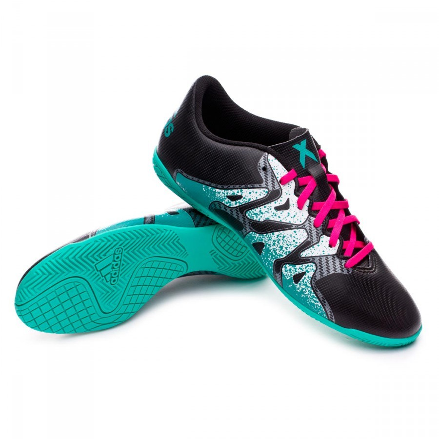 Zapatilla adidas X 15.4 IN Core black-Shock mint-White ... 5fa02bc29690b