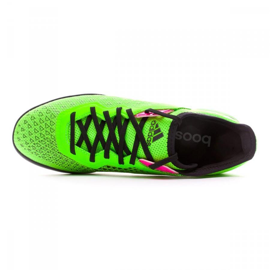 106f86f2ce63 Futsal Boot adidas Ace 16.1 CT Solar green-Core black-Night metallic - Football  store Fútbol Emotion