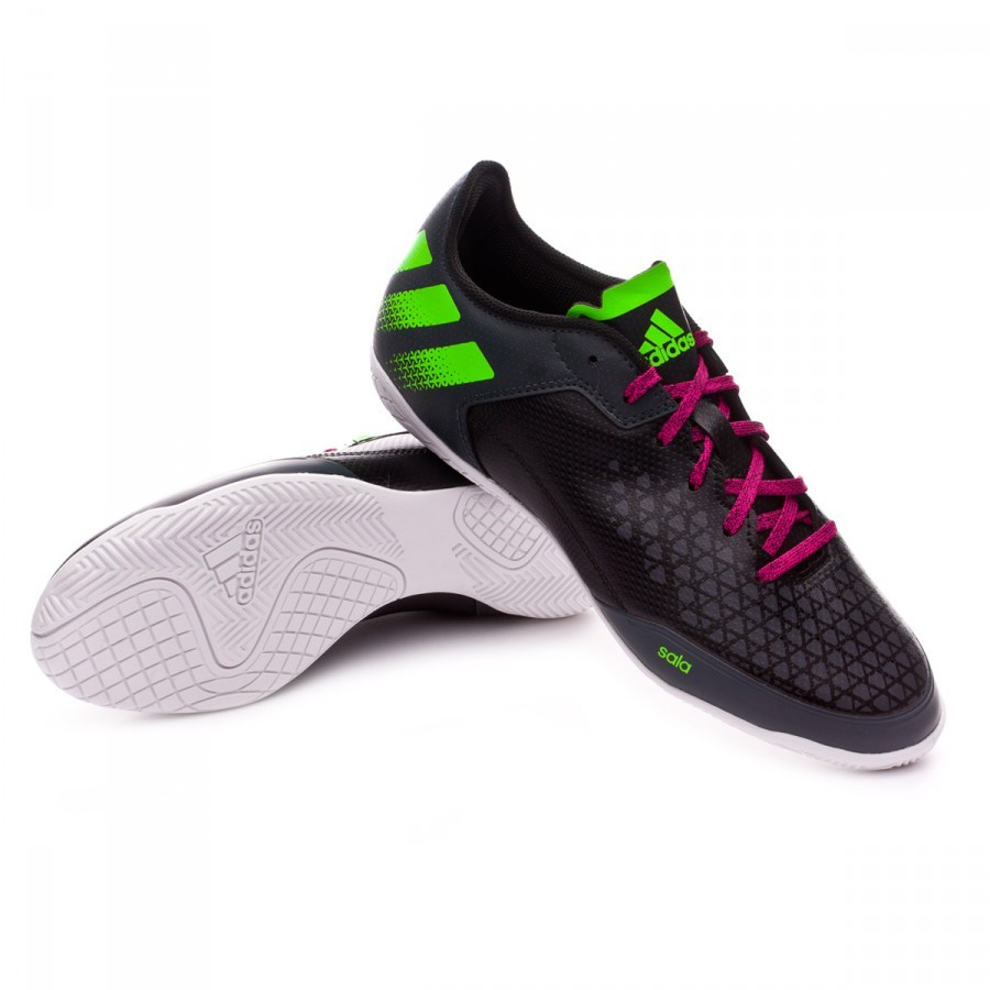 Futsal Boot adidas Ace 16.3 CT Core black-Solar green-Crystal white ... ea4a78d3ecba