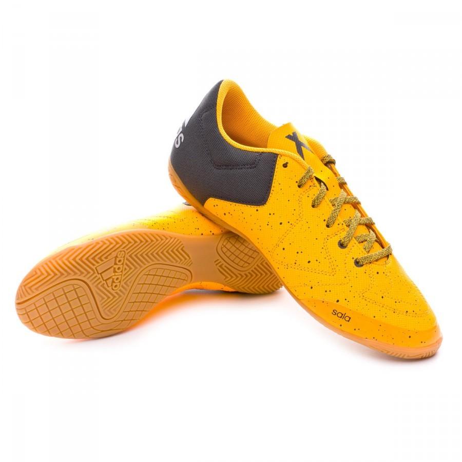 big sale ca5b8 1e3fe Chaussure de futsal adidas X 15.3 CT Solar gold-Dark grey-Clear onix -  Boutique de football Fútbol Emotion
