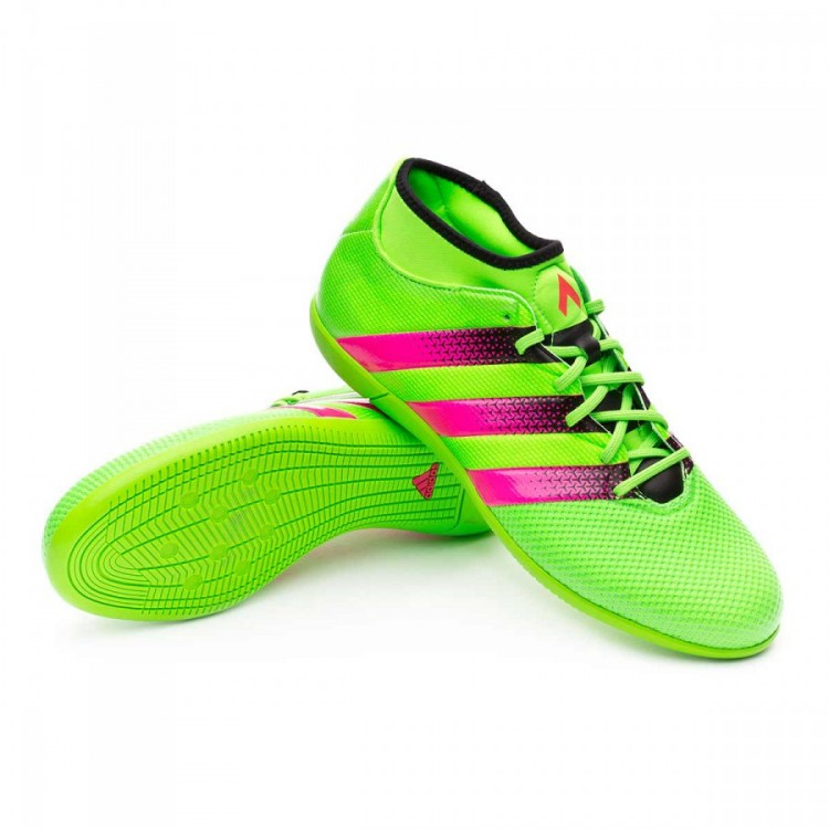 101467f1de Sapatilha de Futsal adidas Ace 16.3 Primemesh IN Solar green-Shock ...
