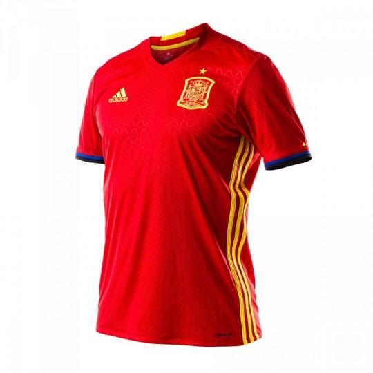 Camiseta  adidas Selección Española Home Euro 2016 Scarlet-Bright yellow