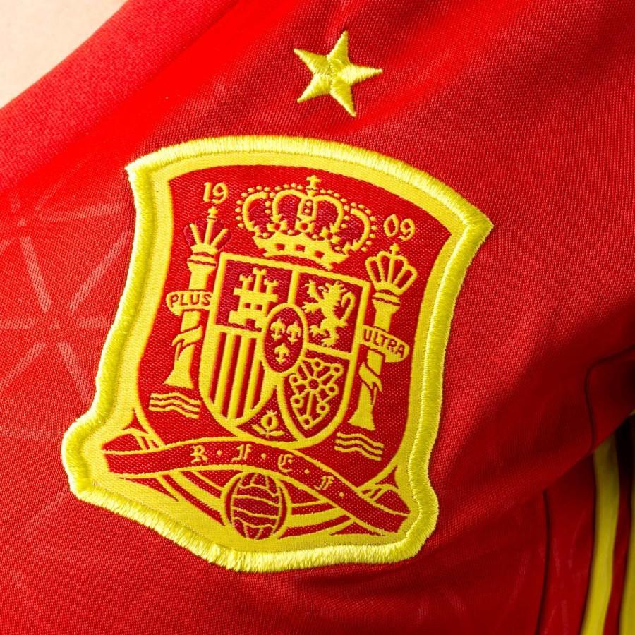 Camiseta adidas España Primera Equipación Euro 2016-2017 Mujer  Scarlet-Bright yellow - Soloporteros es ahora Fútbol Emotion 0ca8b870948b7