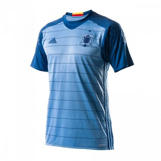 Camiseta  adidas Selección Española Portero Primera Equipación Euro 2016 Light blue-Dark marine