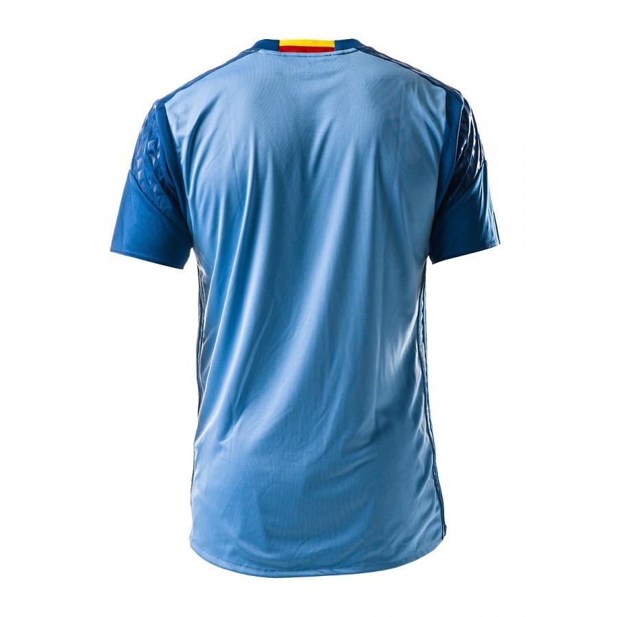 17e5410cfe786 Camiseta adidas España Primera Equipación Euro Portero 2016-2017 Light  blue-Dark marine - Tienda de fútbol Fútbol Emotion