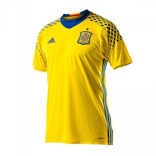 Camiseta  adidas Selección Española Portero Segunda Equipación Euro 2016 Yellow-Collegiate royal