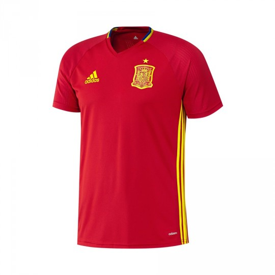 Camiseta  adidas Selección Española Training Euro 2016 Scarlet-Bright yellow