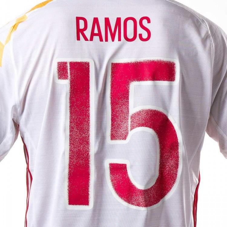 Camiseta adidas España Segunda Equipación Euro 2016-2017 Niño White ... 425d07a1602c9