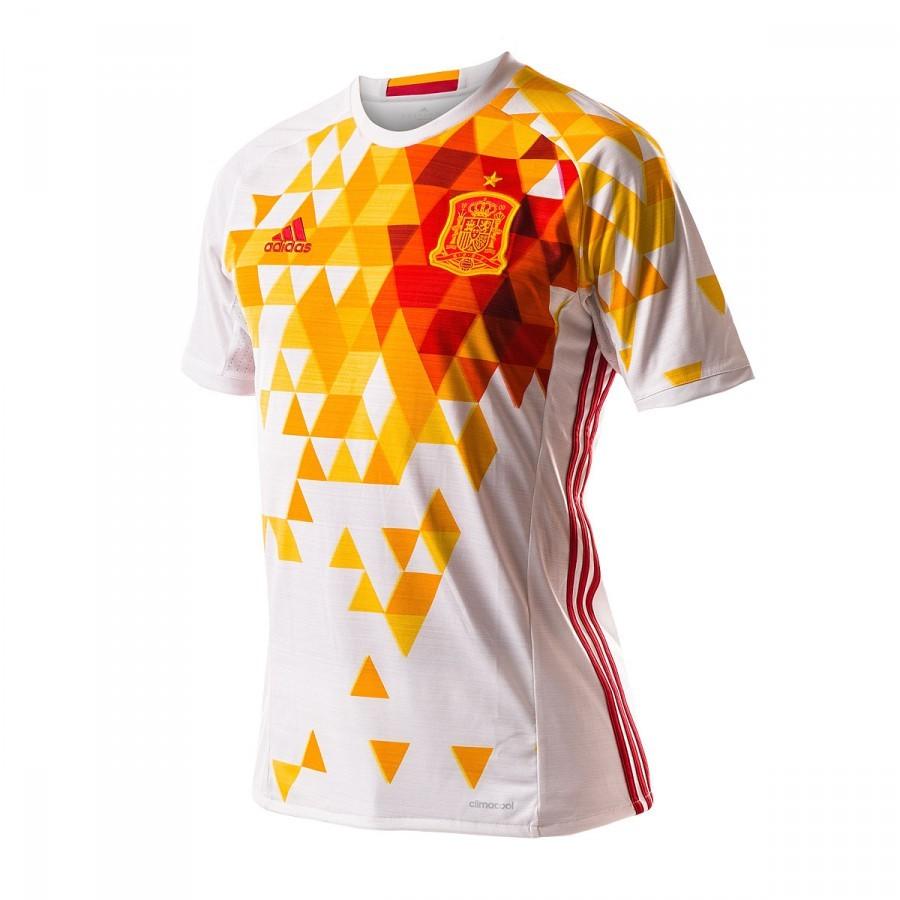 Camiseta adidas España Segunda Equipación Euro 2016-2017 Niño White-Power  red - Soloporteros es ahora Fútbol Emotion 34831849fa966