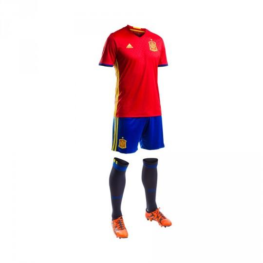 Conjunto  adidas jr Selección Española Home Euro 2016 Scarlet-Bright yellow