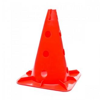 Cone Jim Sports Cone 32 Cm. com suporte para Barras e Arcos Vermelho