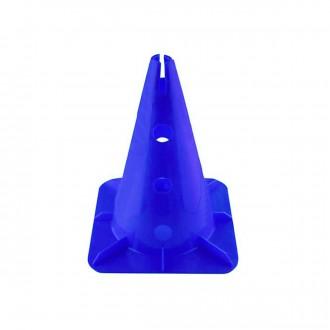 Cone Jim Sports 32 Cm. com suporte para Barras e Arcos Azul