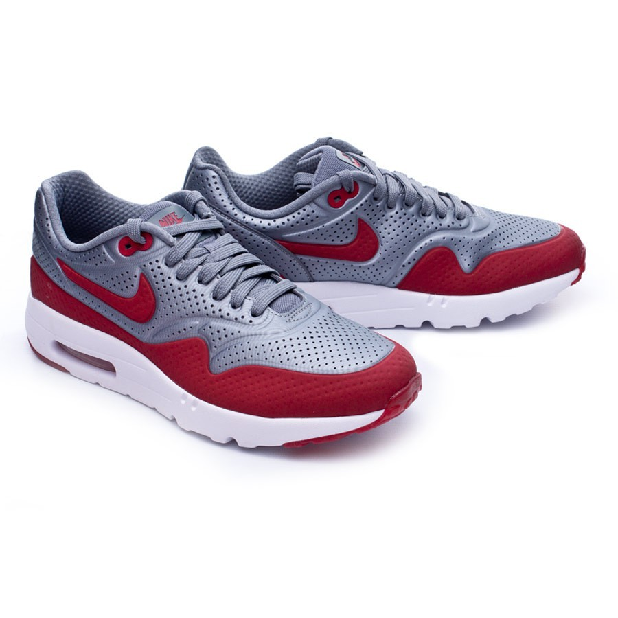 new styles ecc80 71c57 Trainers Nike Air Max 1 Ultra Moire Cool grey-Gym red-White ...