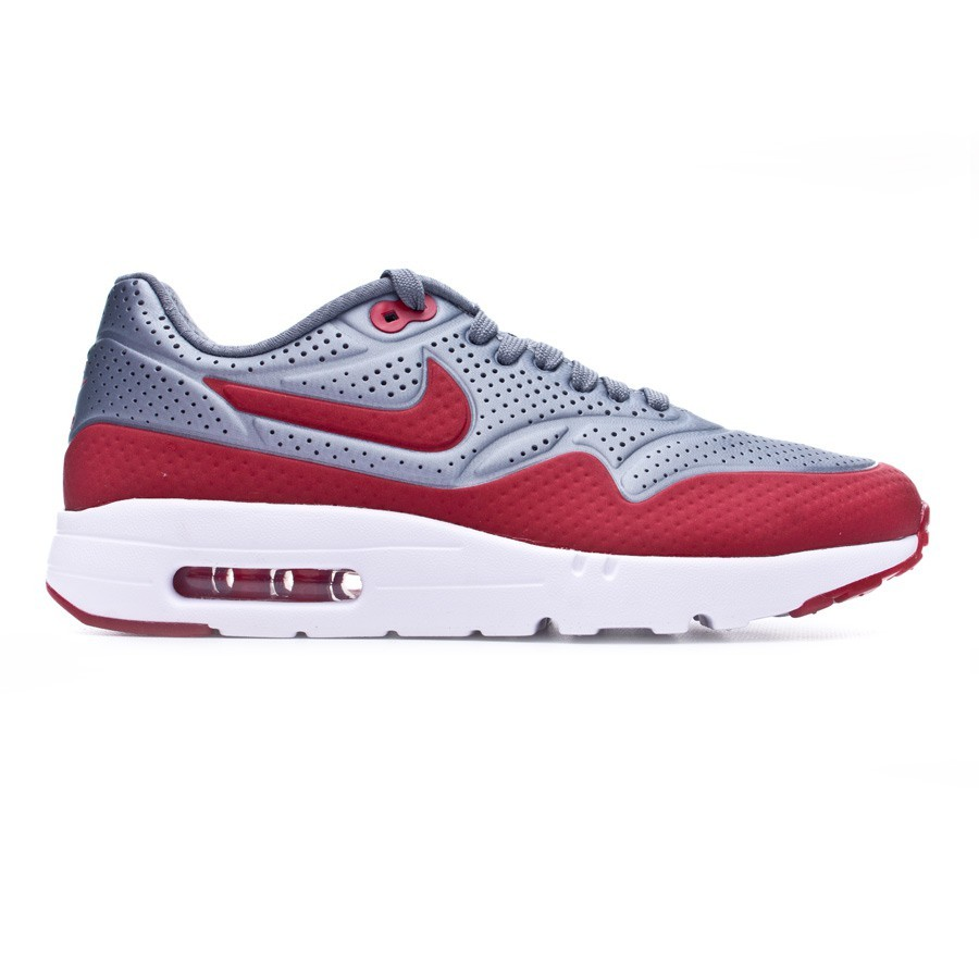 best service 7ed2c daf64 Trainers Nike Air Max 1 Ultra Moire Cool grey-Gym red-White - Football  store Fútbol Emotion