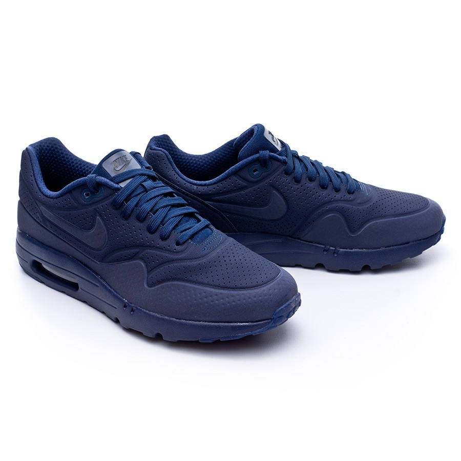 new style 15aaf d5475 Trainers Nike Air Max 1 Ultra Moire Midnight navy-Black - Football ...