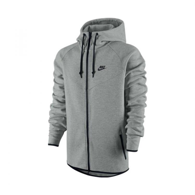 fb89059a792c Sweatshirt Nike Nike Tech Fleece Windrunner Dark grey-Medium grey ...