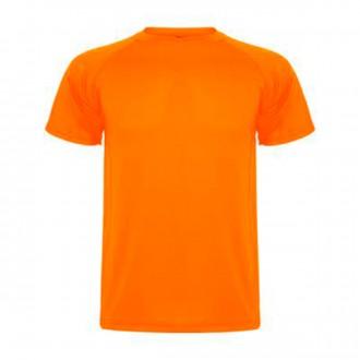 Camiseta  Roly Montecarlo Naranja Flúor