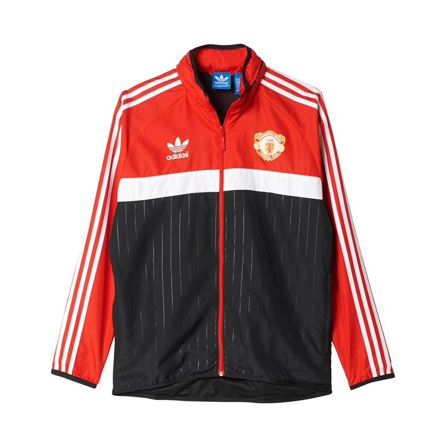 Black Manchester United Chaqueta Red Adidas Windbreaker xIwZzOqf8