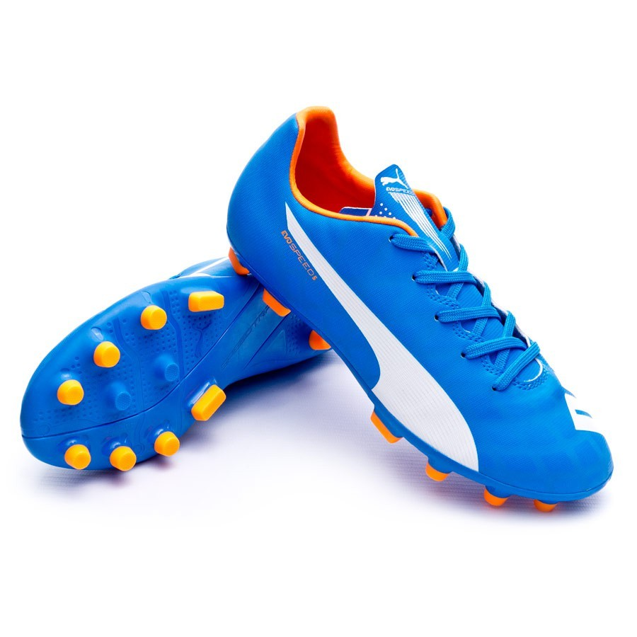 Bota de fútbol Puma Evospeed 5.4 AG Niño Electric blue  lemonade-White-Orange clown - Soloporteros es ahora Fútbol Emotion f8d063d85e85b
