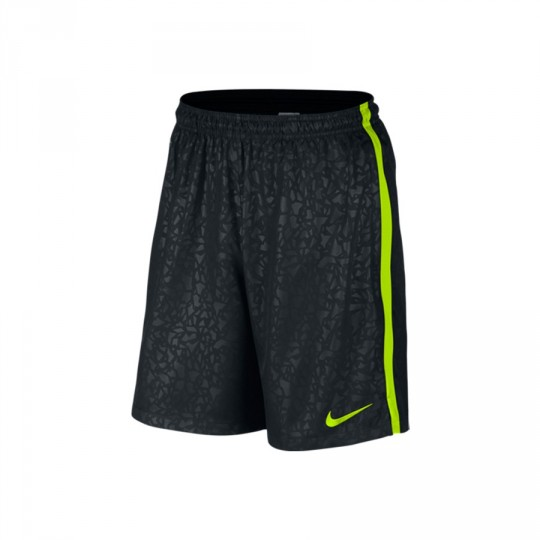 Pantalón corto  Nike Strike Longer Woven Printed Graphic Black-Volt