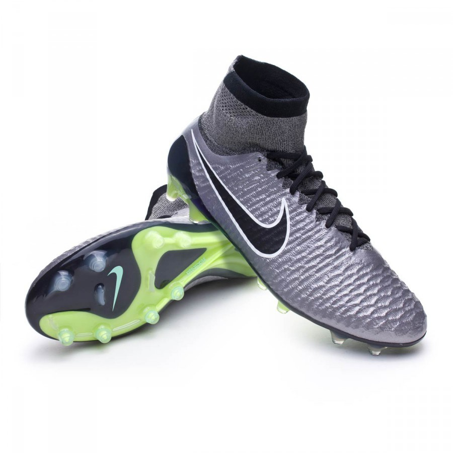 ... switzerland bota de fútbol nike magista obra acc fg metallic pewter  black white ghost green soloporteros 3f31441bbb8a0