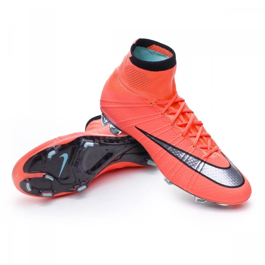 new product 3785b 0e543 Chaussure de foot Nike Mercurial Superfly ACC FG Bright mango-Metallic  silver-Hyper turquoise - Boutique de football Fútbol Emotion