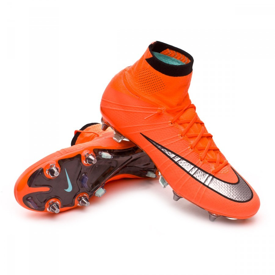 the latest 173f9 232c0 Chaussure de foot Nike Mercurial Superfly ACC SG-Pro Bright mango-Metallic  silver-Hyper turquoise - Boutique de football Fútbol Emotion