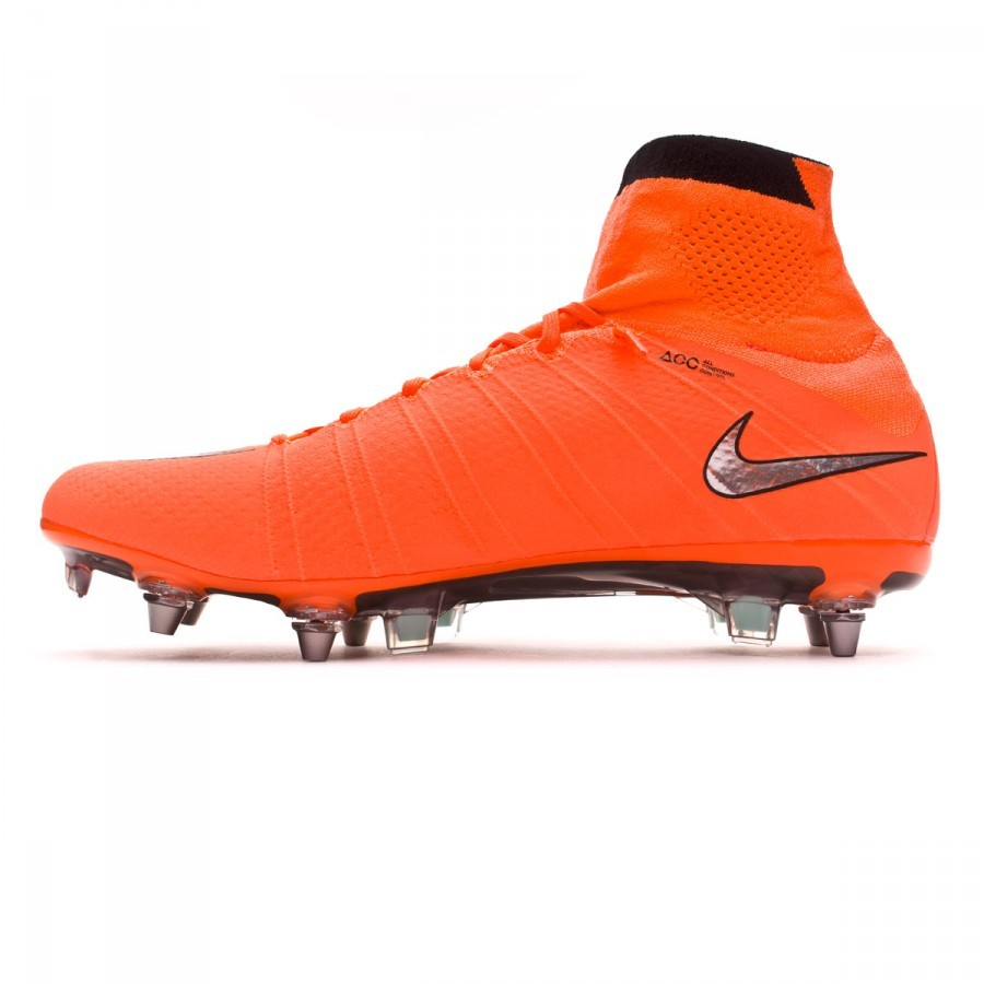 the latest 6c1bb 0a944 Chaussure de foot Nike Mercurial Superfly ACC SG-Pro Bright mango-Metallic  silver-Hyper turquoise - Boutique de football Fútbol Emotion