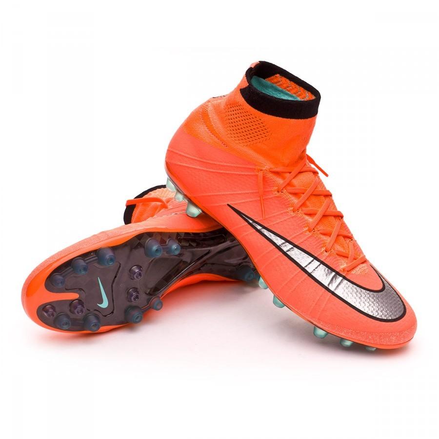 brand new e8e8e ffadd Chaussure de foot Nike Mercurial Superfly ACC AG-R Bright mango-Metallic  silver-Hyper turquoise - Boutique de football Fútbol Emotion