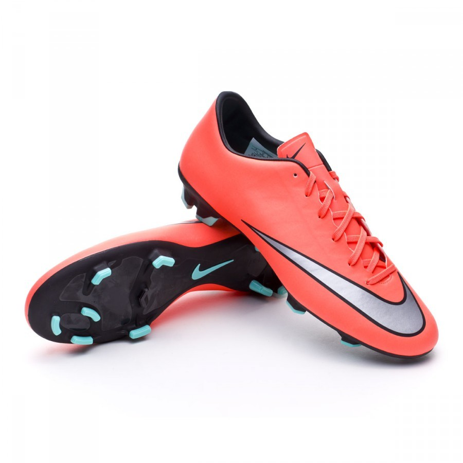 new product 8d473 ce736 Bota Mercurial Victory V FG Bright mango-Metallic silver-Hyper turquoise