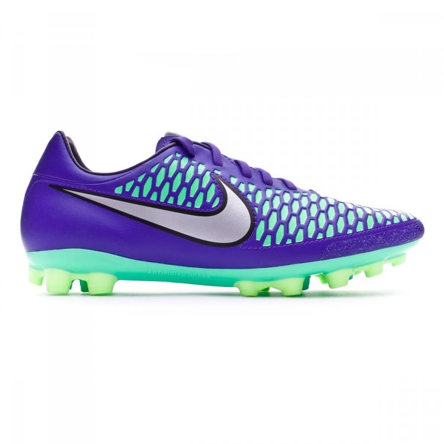 72f27fcb04 Football Boots Nike Magista Onda AG-R Hyper grape-Metallic silver-Ghost  green - Football store Fútbol Emotion