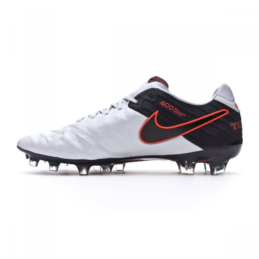 907308a43148 Football Boots Nike Tiempo Legend 6 ACC FG Pure platinum-Black-Metallic  silver - Football store Fútbol Emotion