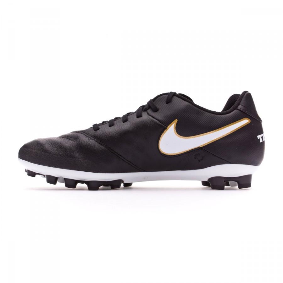 Bota de fútbol Nike Tiempo Genio Piel II AG-R Black-White-Metallic gold -  Soloporteros es ahora Fútbol Emotion 6c4ec4d9c9cc0