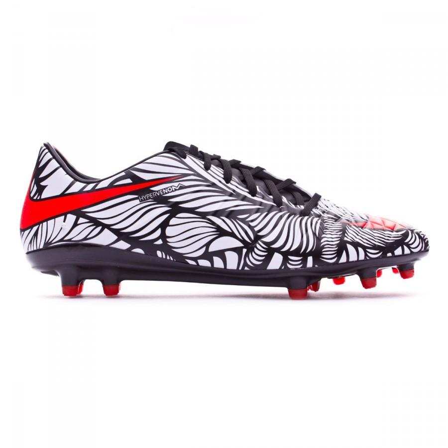 657ce39f9b7f9 Zapatos de fútbol Nike Hypervenom Phatal II Neymar FG Black-Bright  crimson-White - Tienda de fútbol Fútbol Emotion