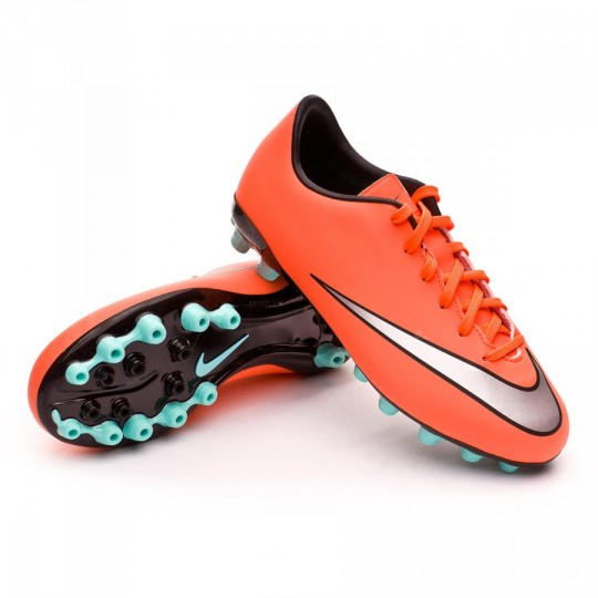 Chuteira  Nike Jr Mercurial Victory X AG Bright mango-Metallic silver-Hyper turquoise