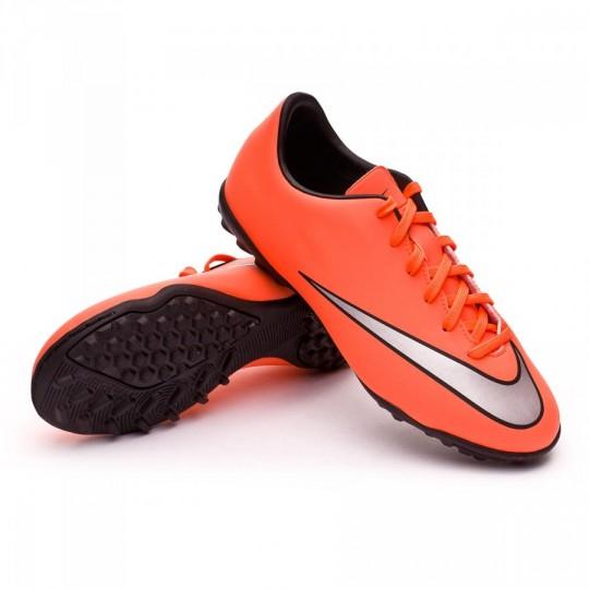 Chuteira  Nike Jr Mercurial Victory V Turf Bright mango-Metallic silver-Hyper turquoise
