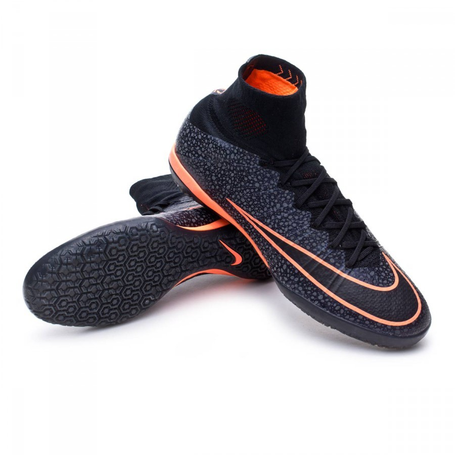 314b6cf82 Futsal Boot Nike MercurialX Proximo IC Black-Bright mango - Football ...