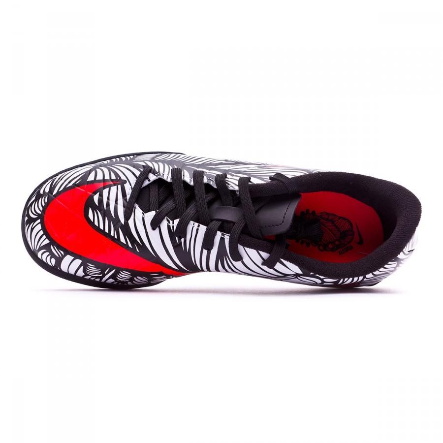 b60a71f4e Futsal Boot Nike Jr Hypervenom Phelon II Neymar IC Black-Bright crimson-White  - Football store Fútbol Emotion