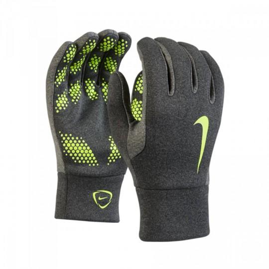 Luvas  Nike Jr para Frio Jogador Hyperwarm Charcoal heather-Volt