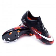 Jr Mercurial Vapor X CR ACC FG Black-White-Total crimson-Purple