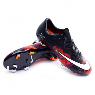 Kids Mercurial Vapor X CR ACC FG Black-White-Total crimson-Purple
