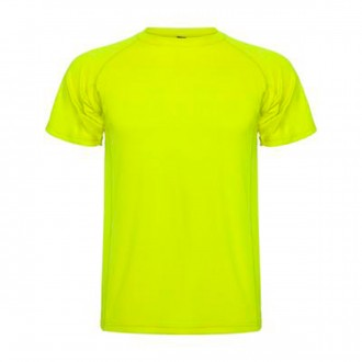 Camiseta  Roly Montecarlo Amarillo Flúor