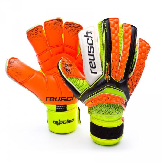 Guanto  Reusch Re:pulse Deluxe G2 Ortho-Tec Black-Shocking orange