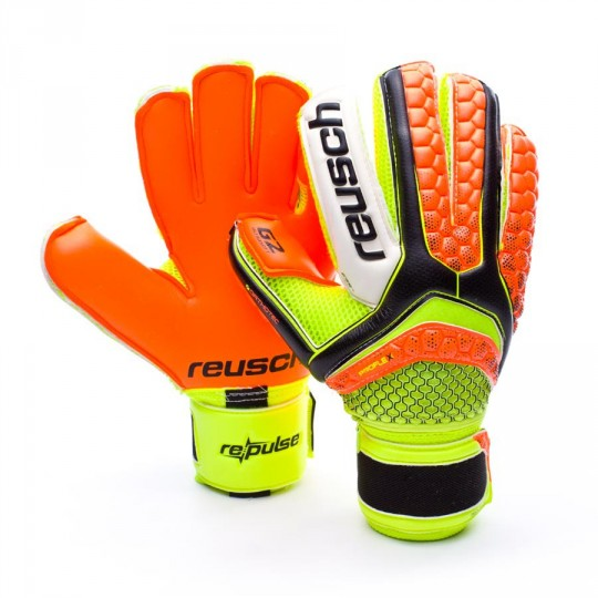 Guanto  Reusch Re:pulse Pro G2 Ortho-Tec Black-Shocking orange