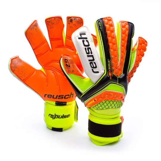 Guanto  Reusch Re:pulse Deluxe G2 Black-Shocking orange