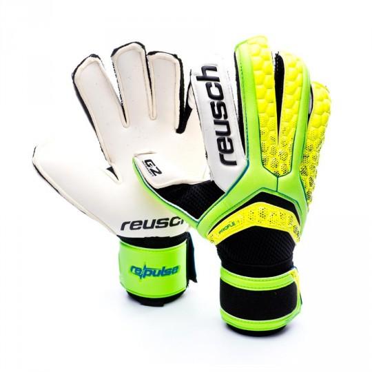 Glove  Reusch Re:pulse Pro Duo G2 Green gecko-Safety yellow