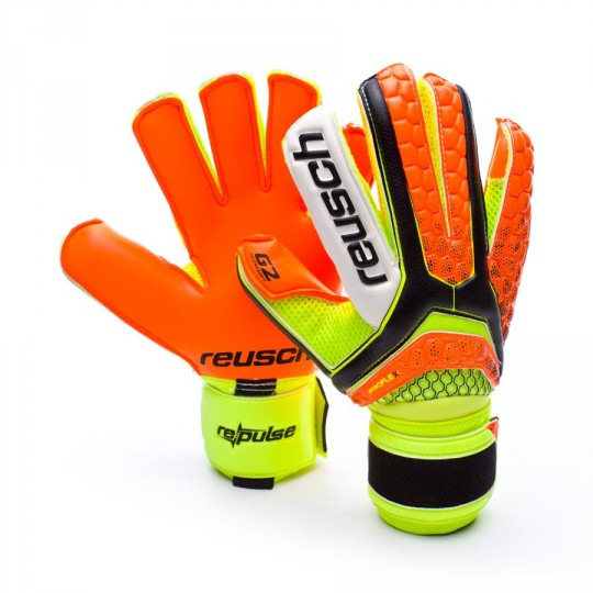 Guanto  Reusch Re:pulse Pro G2 Black-Shocking orange