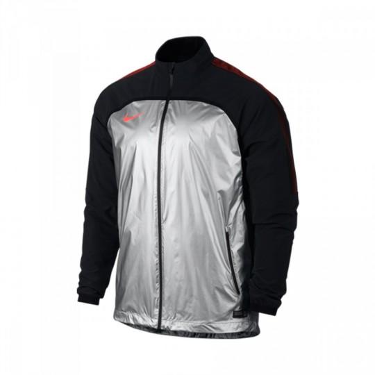 Casaco  Nike Strike Woven II Elite Metalic Silver-Black-Hyper Orange