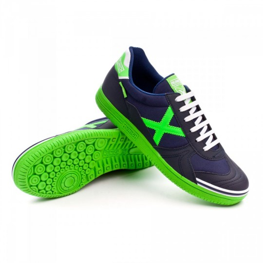 Sapatilha de Futsal  Munich G3 classic Azul Marinho-Verde